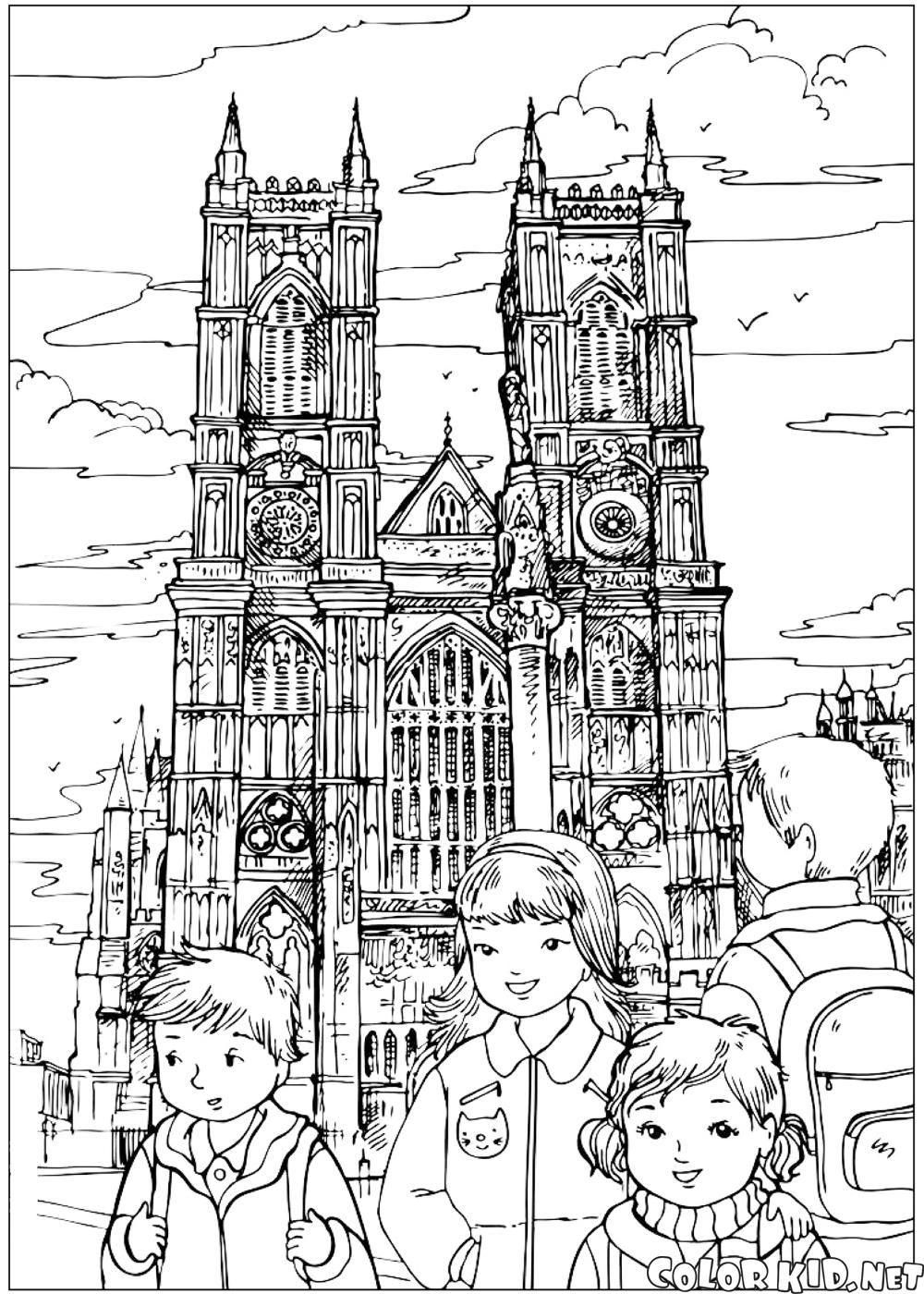 Westminster Abbey Colouring Pages London Pictures World Thinking Day