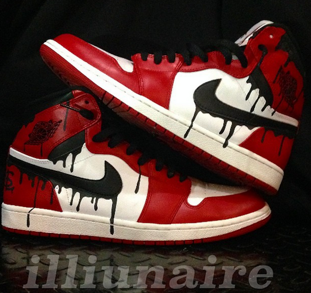 f14382db20e6 Drippy Air Jordan 1 Chicago Custom by Illiunaire