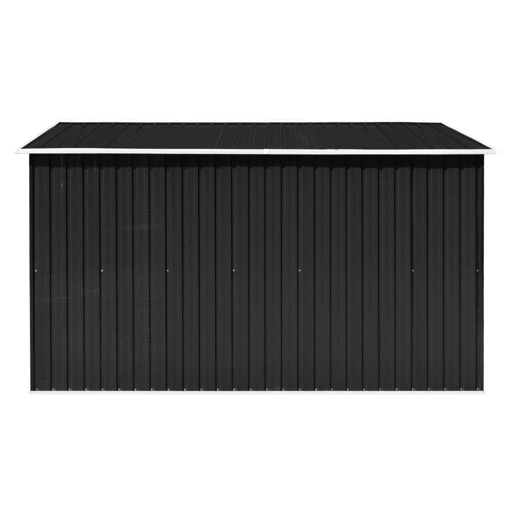 ZUN Garden Shed 101.2″x117.3″x70.1″ Metal Anthracite 46307