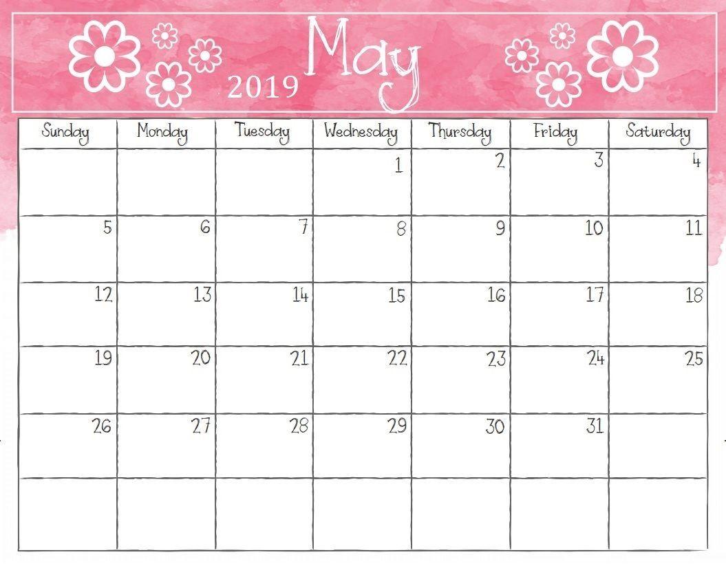 Free Printable May 2019 Calendar Store Free Calendar Template
