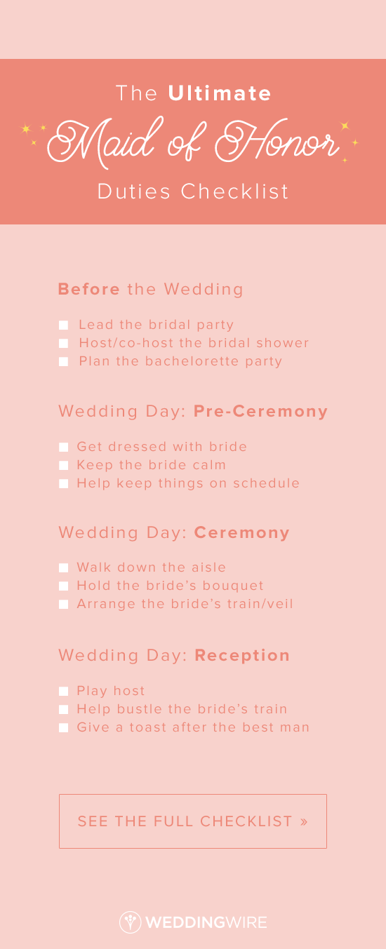 The Ultimate Maid Of Honor Duties Checklist From Before Wedding To During Ceremony Check Out List On