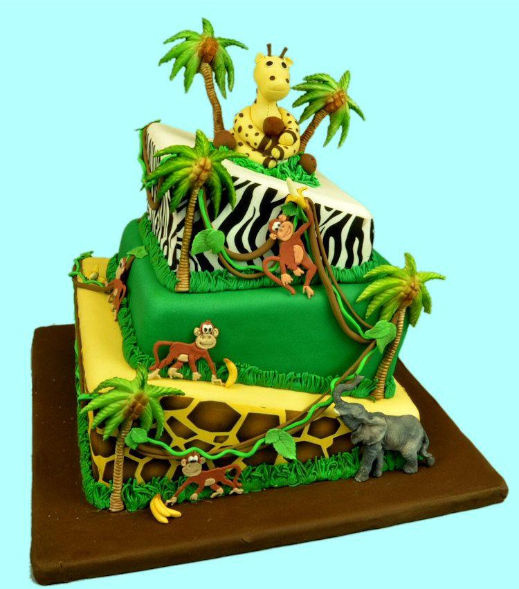 Topsy Turvy Safari Cake Cakes For Kids Cake Safari