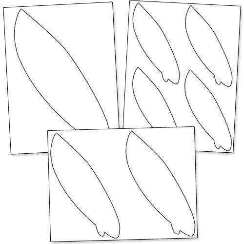 Printable Surfboard Templates from PrintableTreats.com