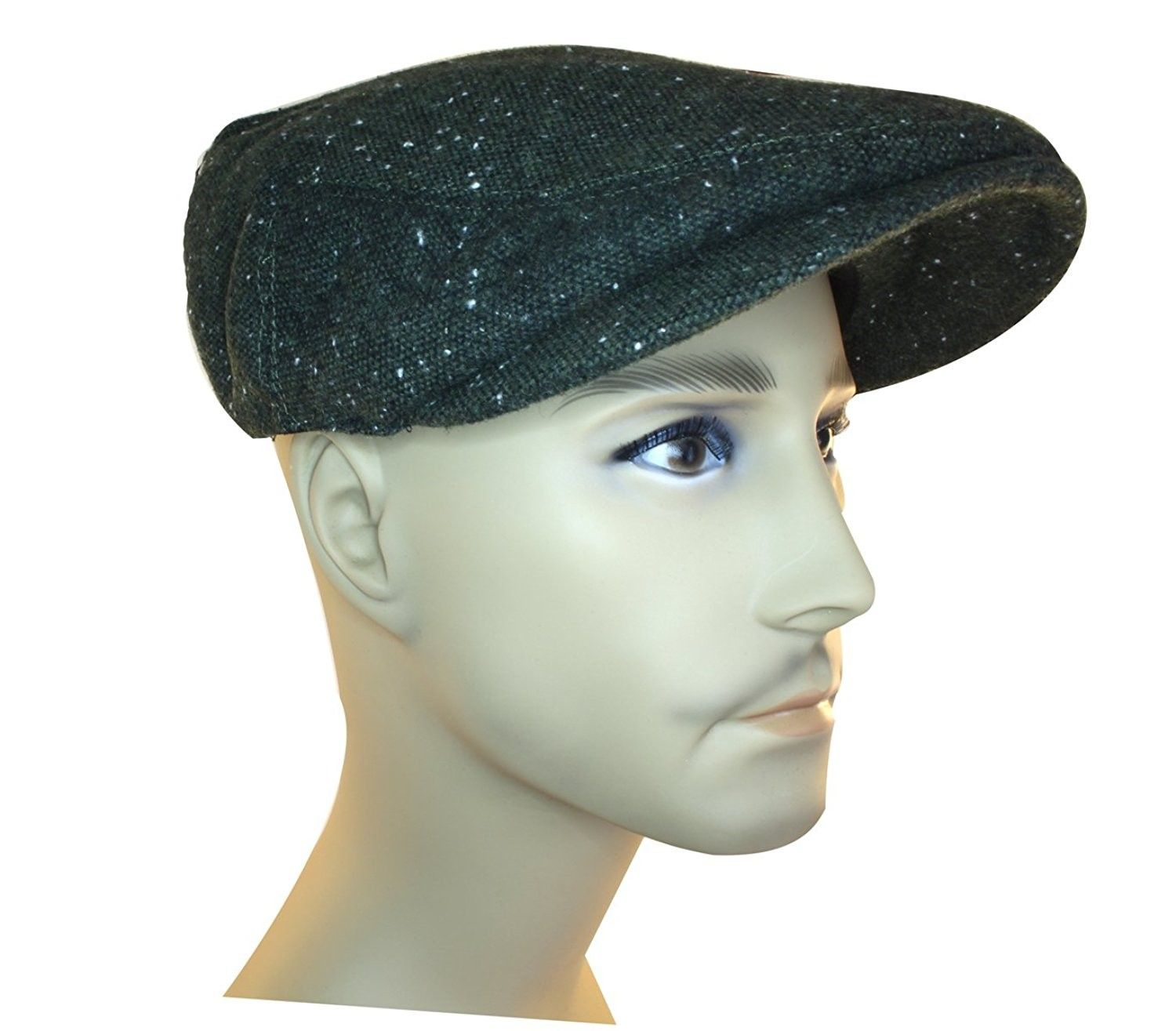 Irish Flat Caps 100% Wool - Green - CB18068S5SA  hats  caps  Newsboy Caps fb76a50a474f