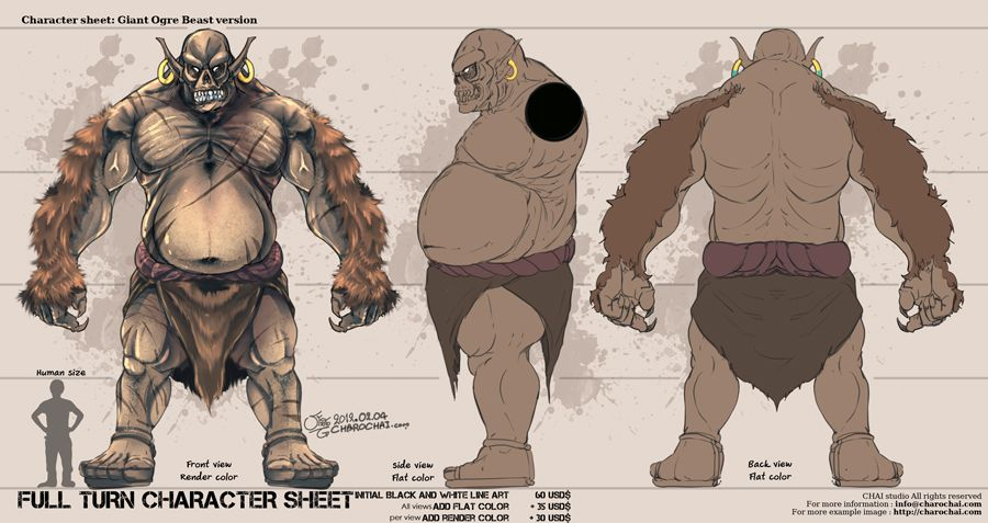 Character Design Reference Photos : Character sheet giant ogre by charochai design