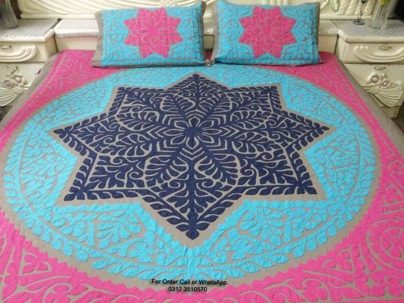 Best Designs Of Hand Embroidery Bed Sheets From Pakistan