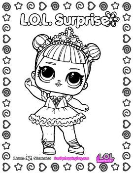 lol surprise coloring page 4 coloring pages  birthday coloring pages unicorn coloring pages