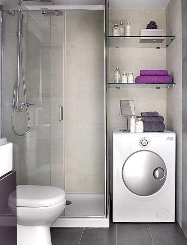 Image Result For Small Bathroom With Washer And Dryer Layout The - Purple bath towels for small bathroom ideas