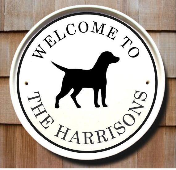 12 inch wide House plaque Dog Welcome Sign Labrador Retriever made in USA