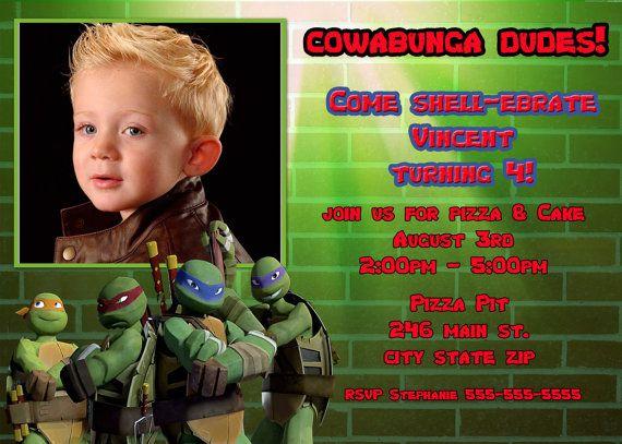 Free printable ninja turtle birthday invitations party ideas for free printable ninja turtle birthday invitations filmwisefo