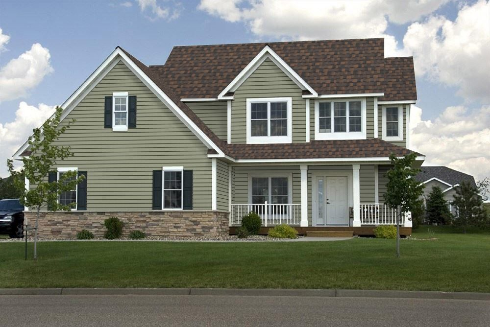 Green Siding With White Trim Green Siding House Exterior House Styles