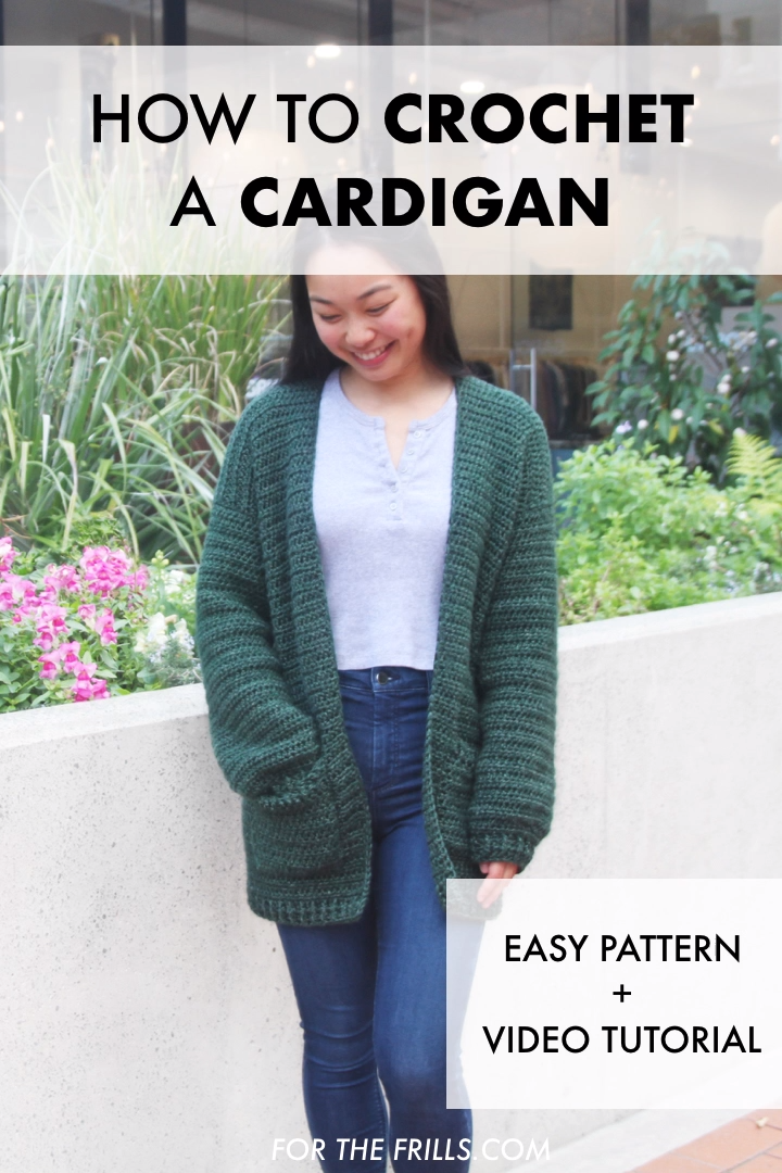 Photo of Easy Beginner Crochet Cardigan – free pattern + video tutorial