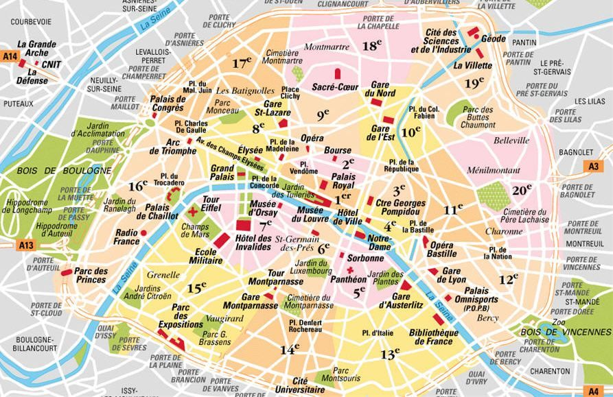 Cartina Di Parigi E Dintorni.Mappa Di Parigi Cartina Di Parigi Parigi Mappa Viaggiare A Parigi Parigi Francia