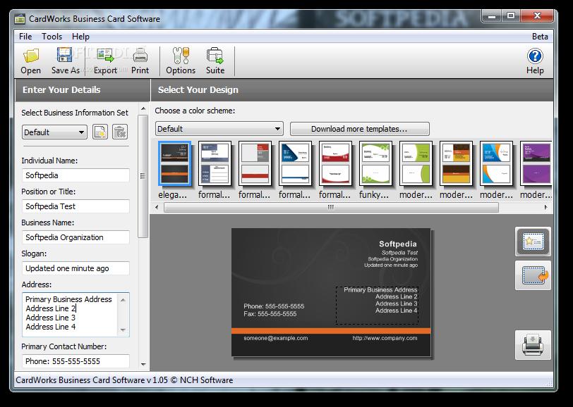 Business Card Design Software Httplonewolf Software