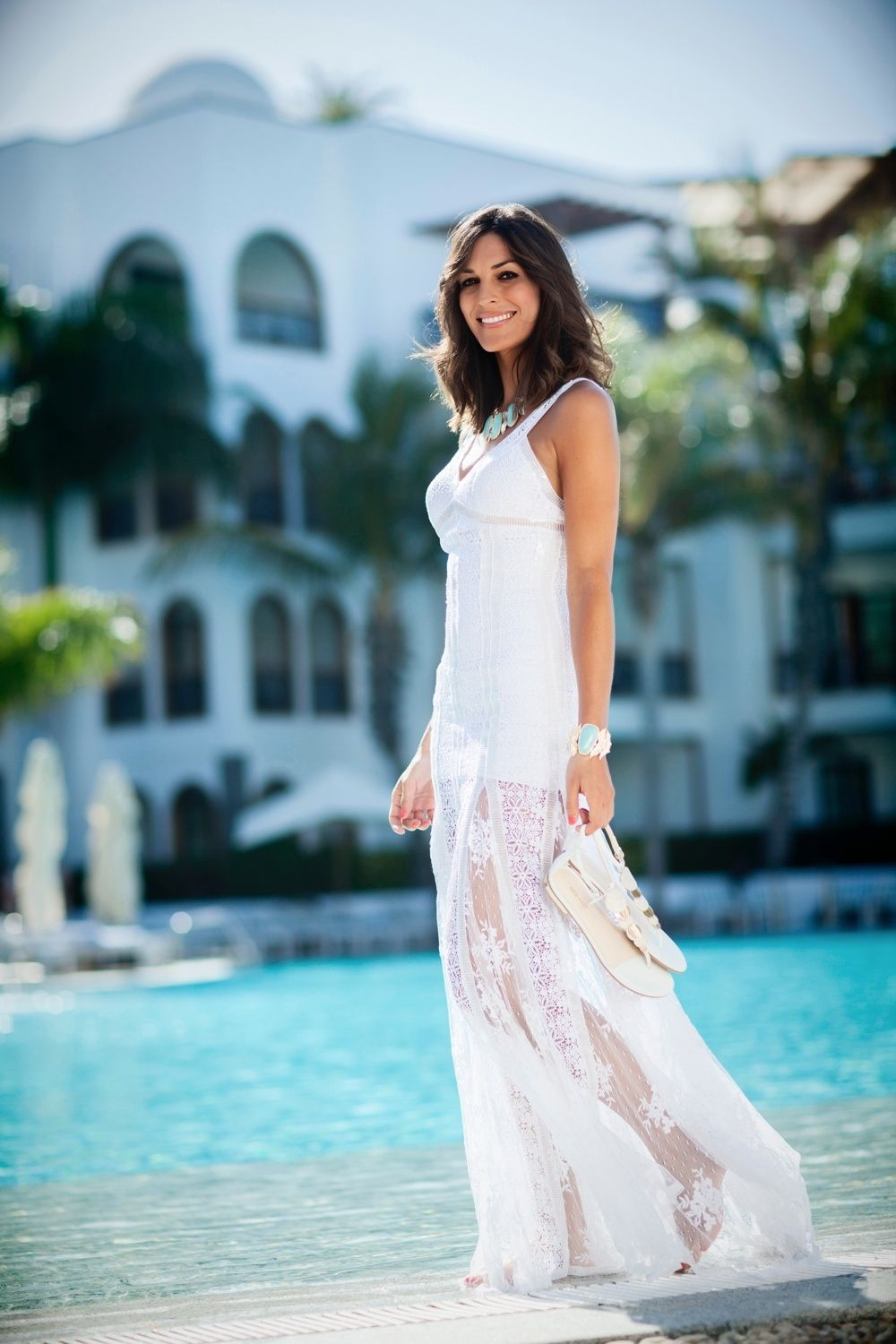 Verónica Hidalgo with our Bohemian Glam collection at Lanzarote ...