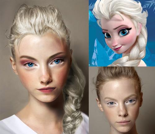 Frozen Photo Real Life Elsa Elsa Makeup Frozen Makeup Disney Makeup