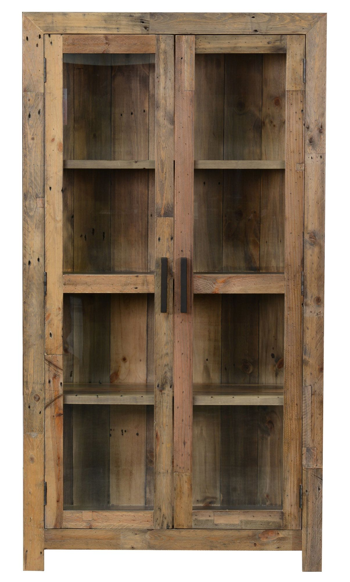 1 Door Wide And Put Old Glass Door Purchased At Flea Market On The Top Rustic China Cabinet Rustic Cabinets Wood Display