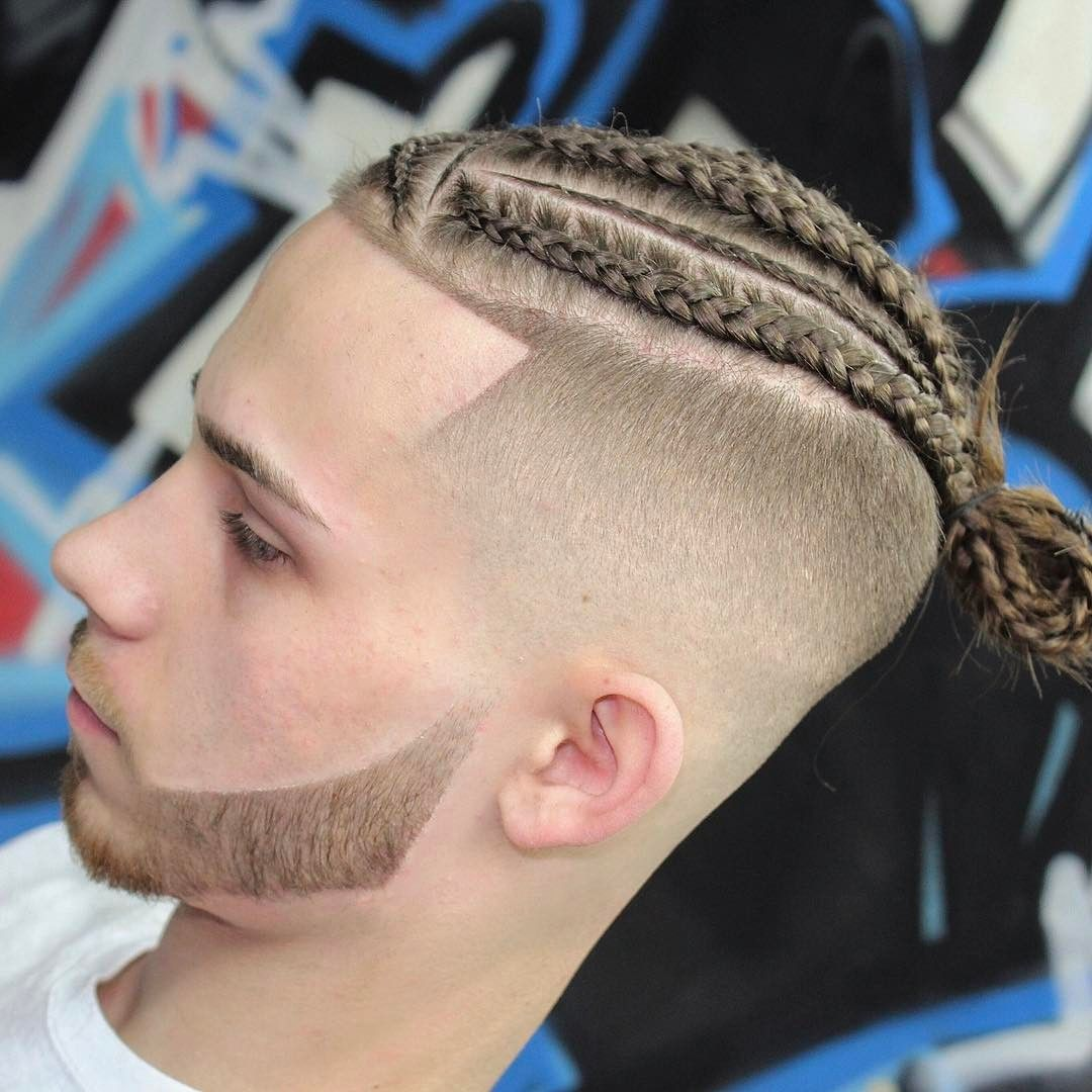 24 Popular Man Braids Hairstyles 2019 Blad Fade With