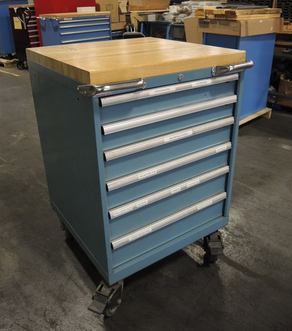 Vintage Lista SC750 Mobile Cabinet, Originally Used In The Lista Factory