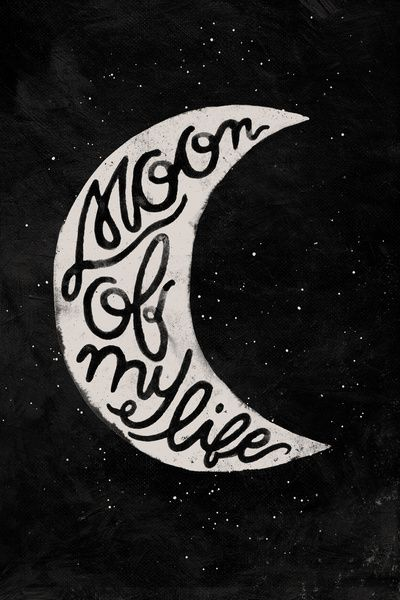 Moon Of My Life Art Print (master bedroom)