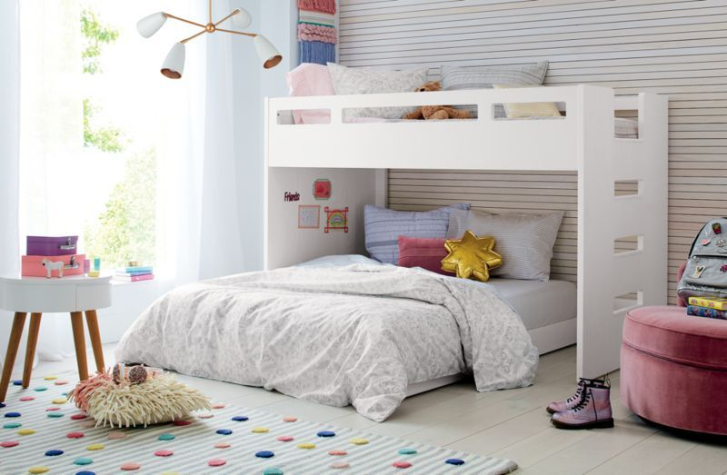 Sprinkles 8x10 Striped Rug Reviews Crate And Barrel Full Bunk Beds Bunk Beds For Girls Room Bed For Girls Room