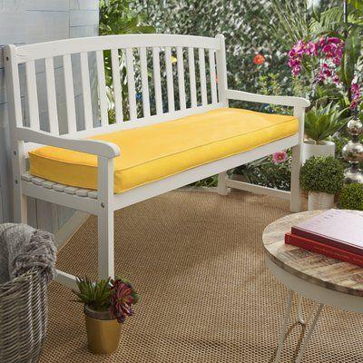 Telleman Indoor Outdoor Sunbrella Bench Cushion Fabric Sunflower