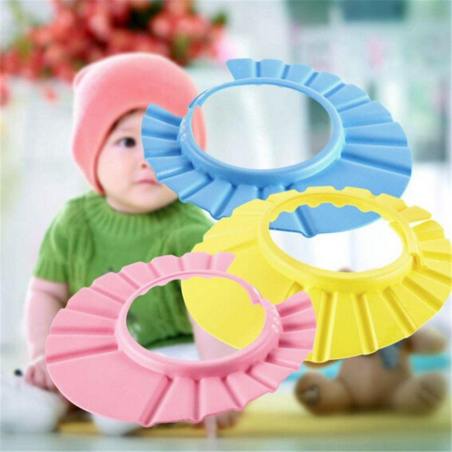 colors fashion soft kids shampoo bath shower cap baby wash hair