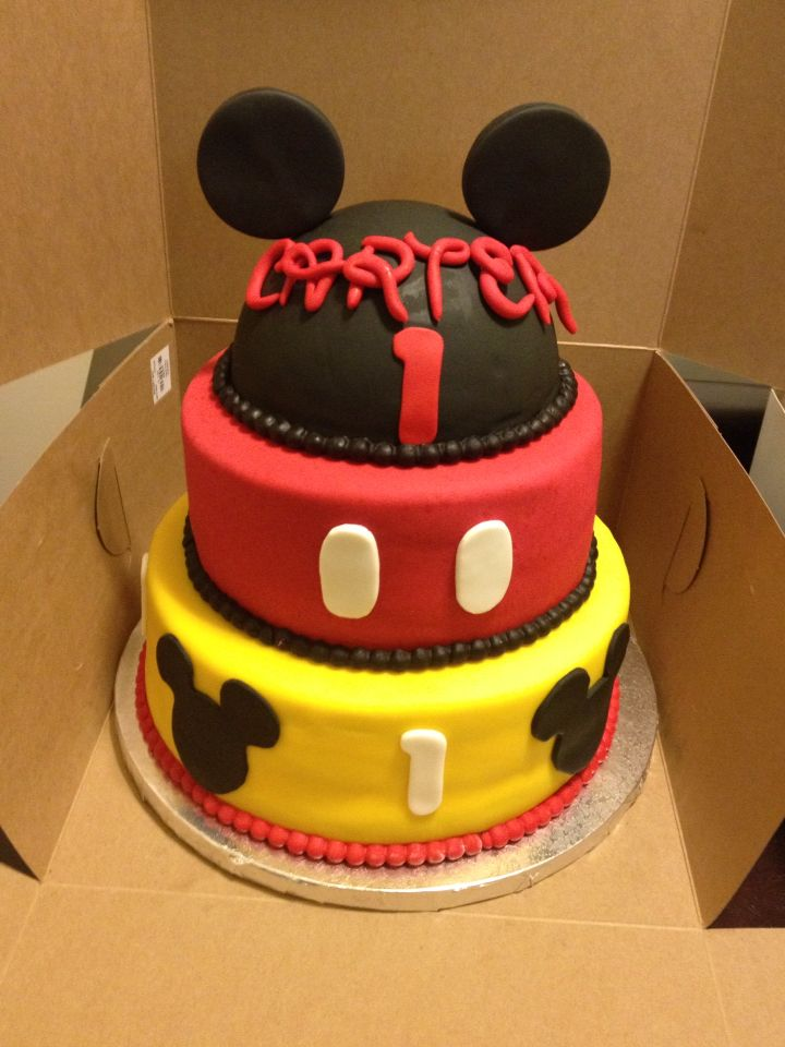 Mickey Mouse Cake For A One Year Old Birthday With Images