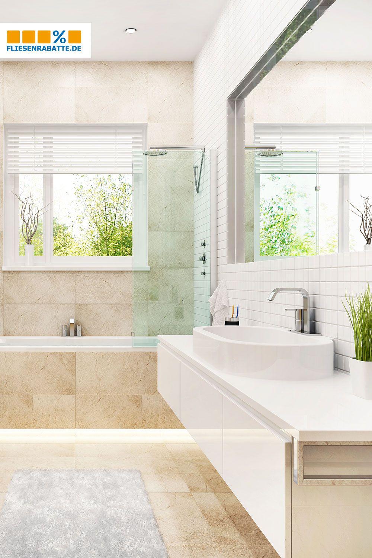 Warme Farben Im Badezimmer Mit Unseren Steinoptik Fliesen