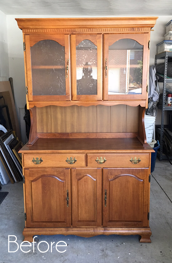 $60 Thrift Store Hutch Makeover #togetherwithfriends