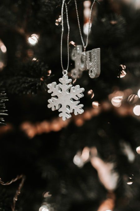 Ornament, snowflake, moody and christmas tree HD photo by