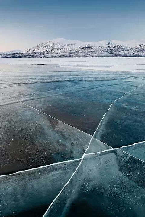So beautiful landscape. Ice and cold.