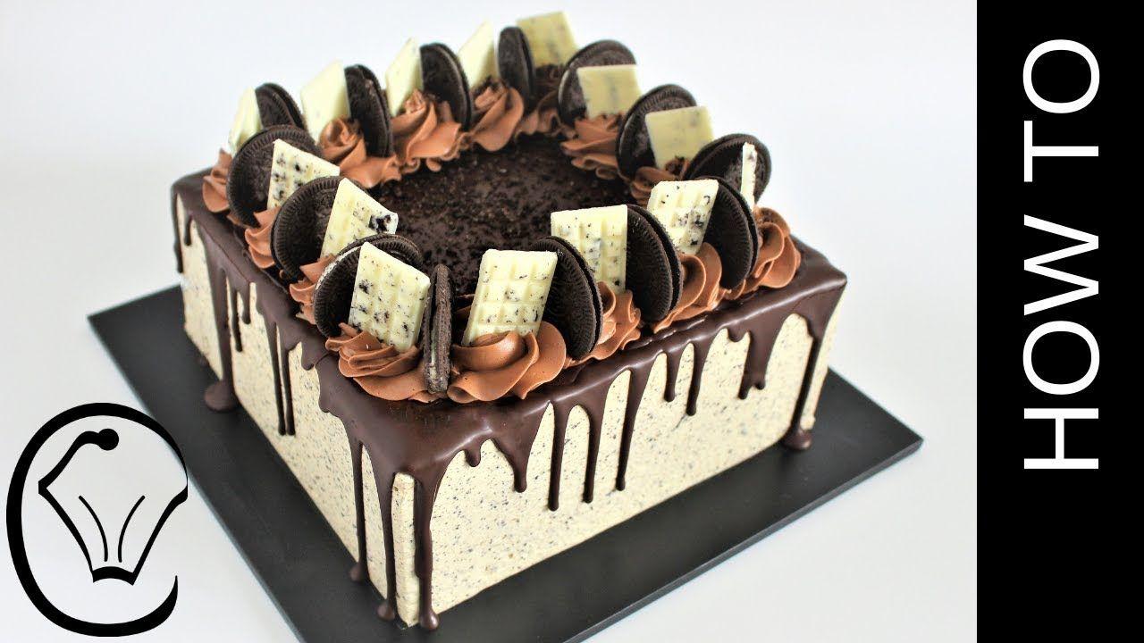 Cookies And Cream Cheesecake Layered Chocolate Mud Cake Birthday Cake Cookies And Cream Cheesecake Mud Cake Cake