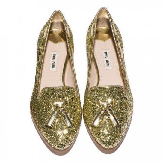 nuova collezione vasta gamma di acquista per to die for: Mocassini Glitter Miu Miu | likesss | Shoes ...