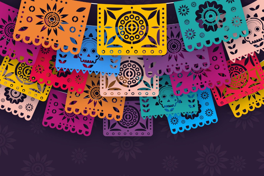 papel picado Google Search in 2020 Day of the dead