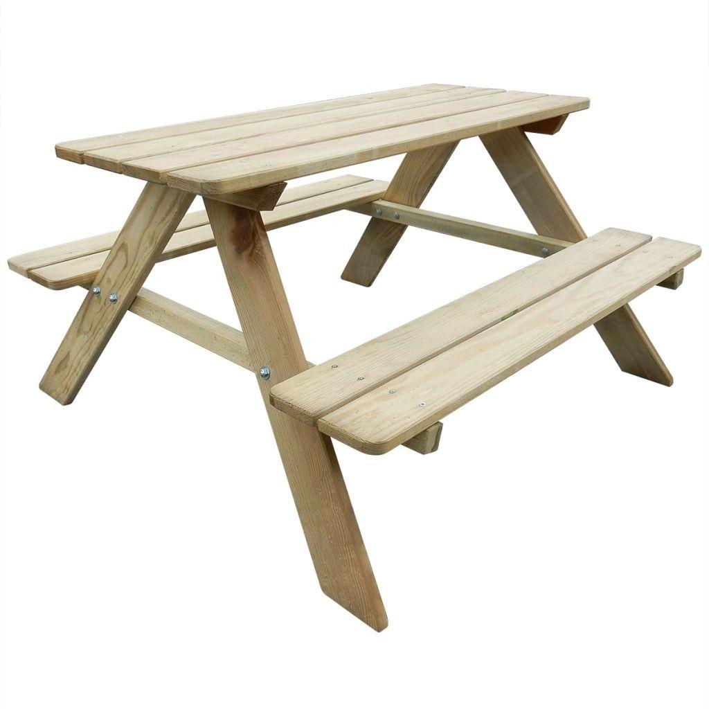 Kob Vidaxl Piknikbord For Barn 89 X 89 6 X 50 8 Cm Fsc Furu Mobel