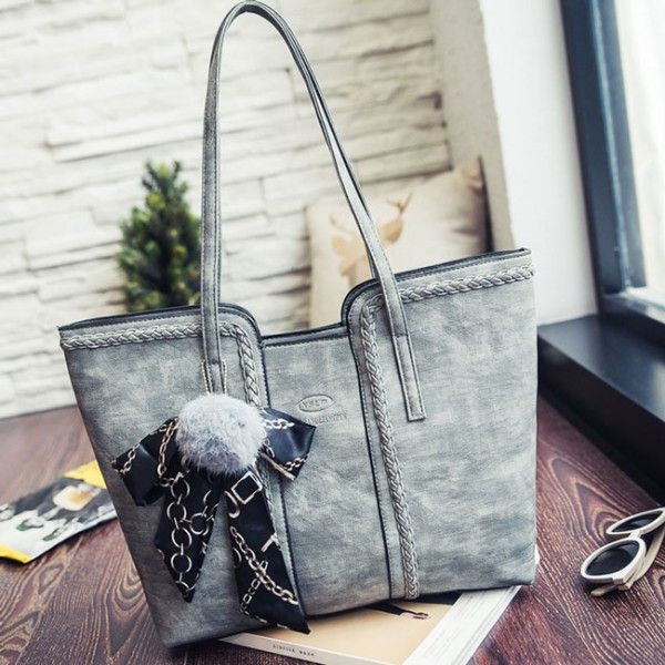 e70f49289e Retro Girl s PU Whole Color Sewing Thread Shoulder Bag Weave Handbag just   32.99 from ByGoods.com! I can t wait to get it!