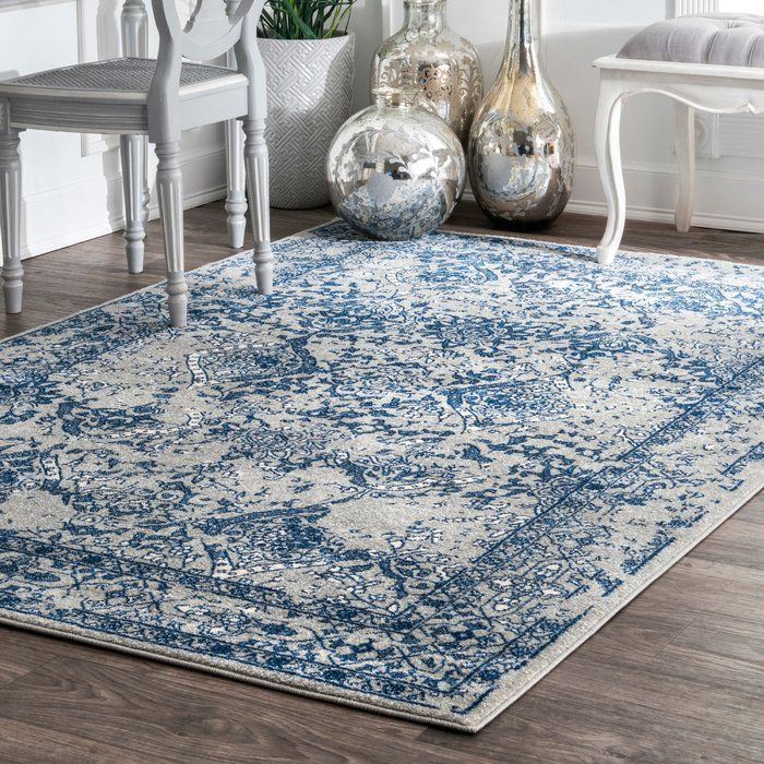 Ayres Navy Blue Area Rug images