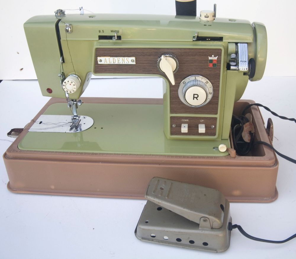Vintage Aldens Sewing Machine 685BB ,ZIG ZAG NUMBER 4574 #ALDEN