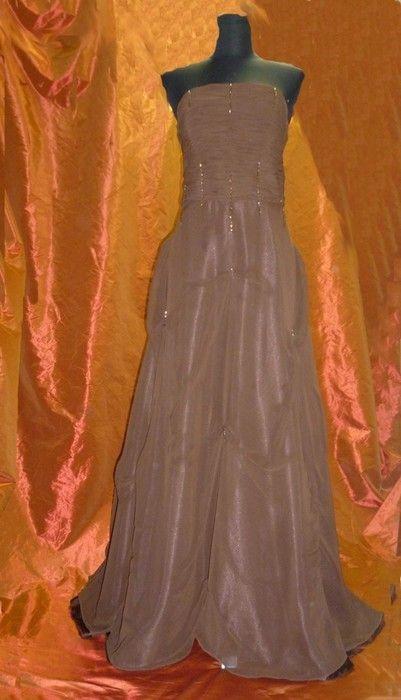 dlouhé společenské hnědé šaty - Večerní šaty - vinted.cz Zara 496168fa53