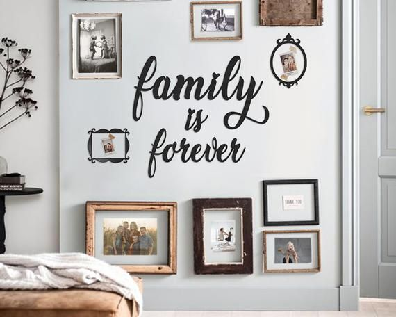 Metal Family Is Forever Sign Dining Room Wall Decor Kitchen Etsy Metal Wall Art Metal Walls Dining Room Wall Decor