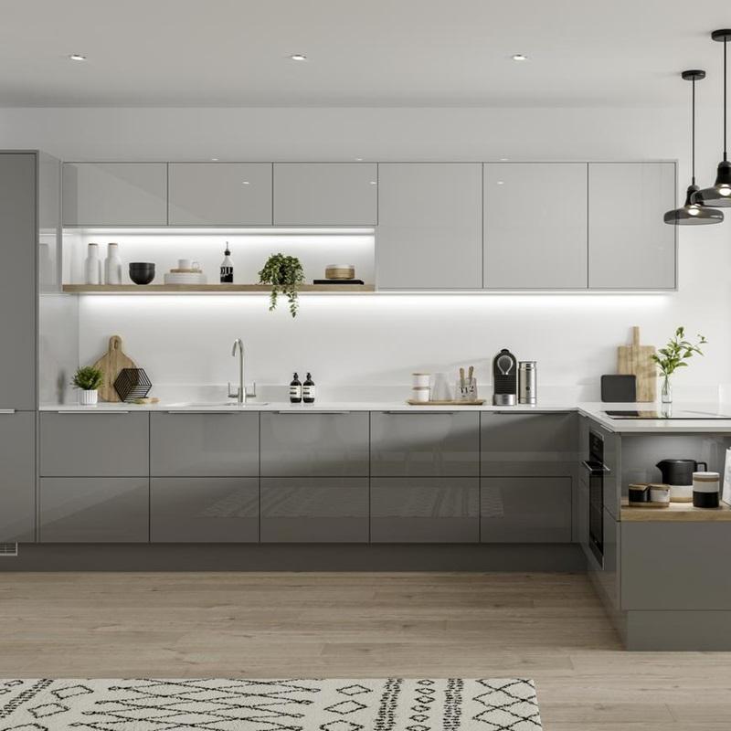 Grey Kitchen Ideas In 2020 Modern Grey Kitchen White Modern Kitchen Kitchen Design Small