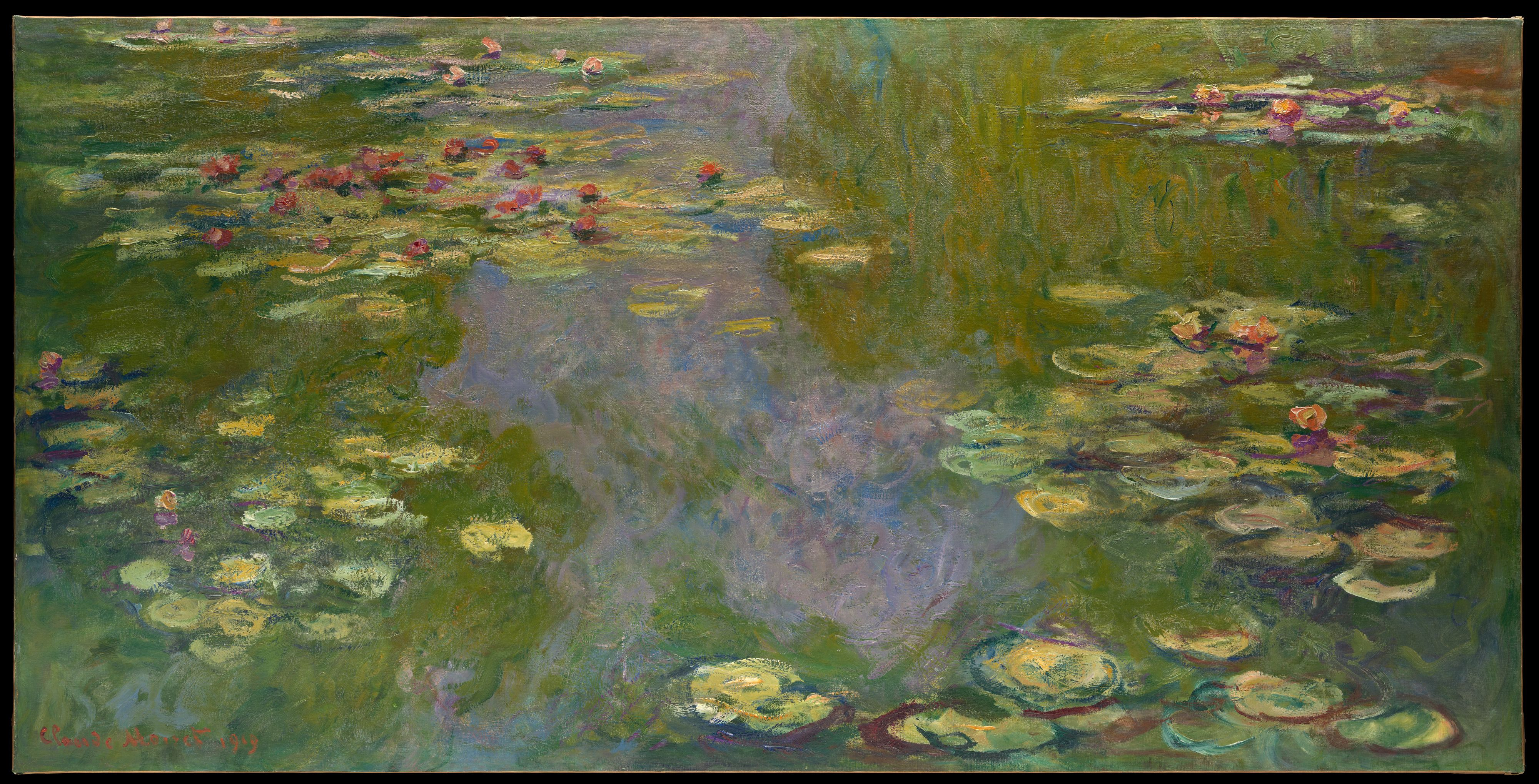 Claude water lilies the met water lilies
