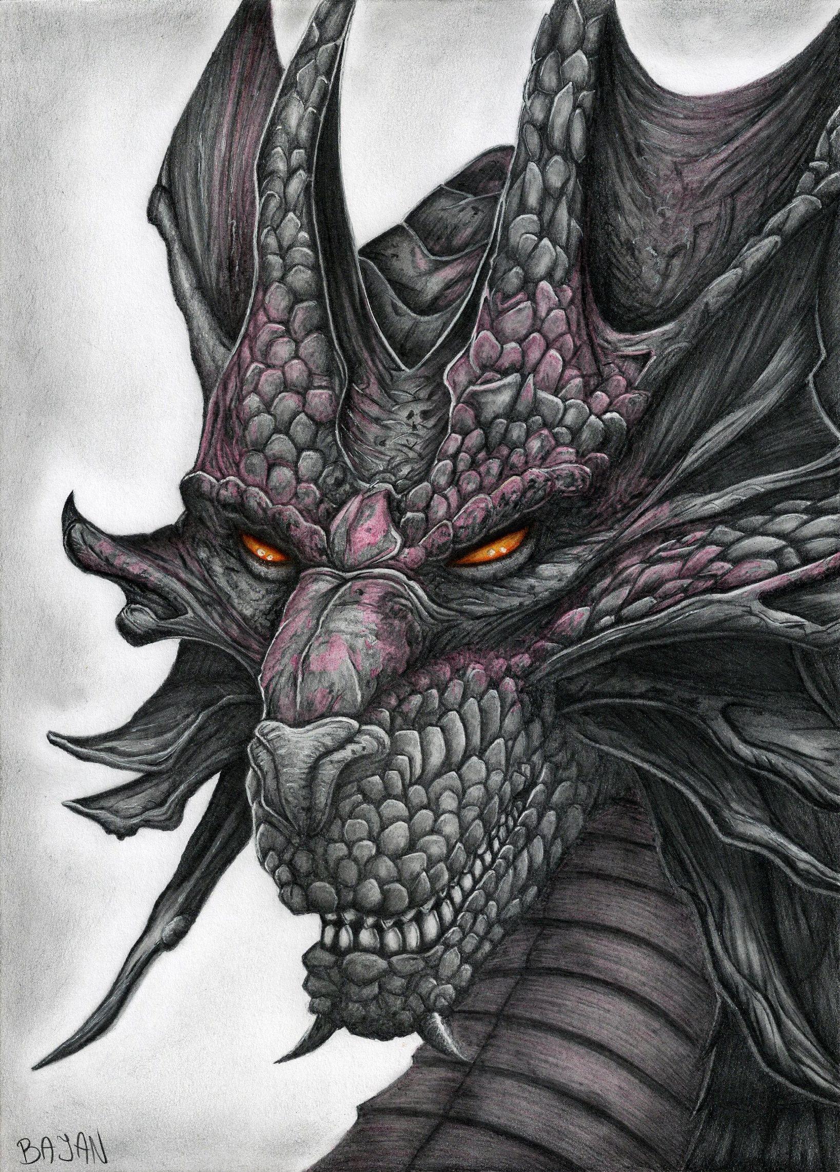 Dragon Drawing by Bajanoski.deviantart.com on @deviantART ...
