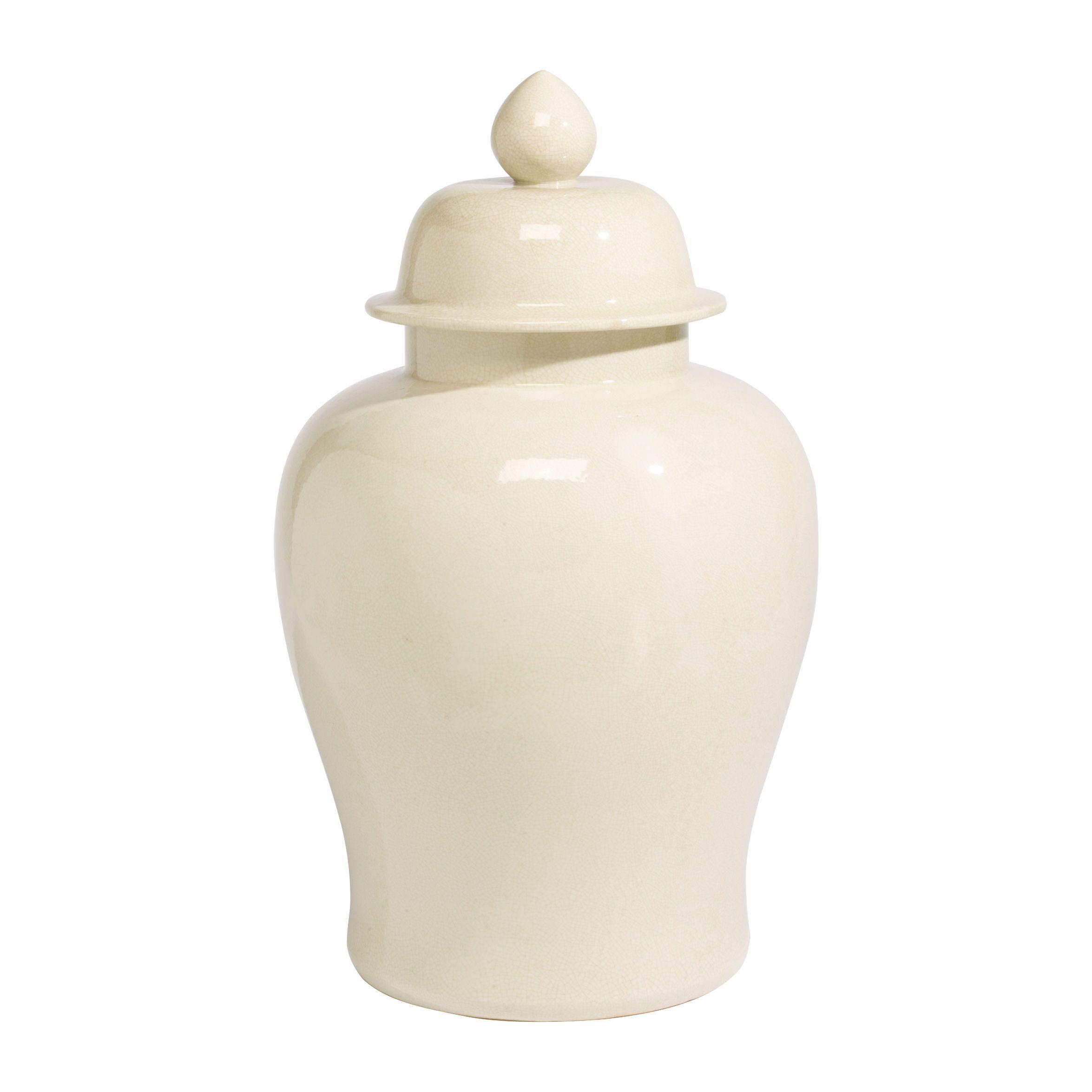 Ivory Porcelain Temple Jar - Ethan Allen US | Unique garden ideas ...