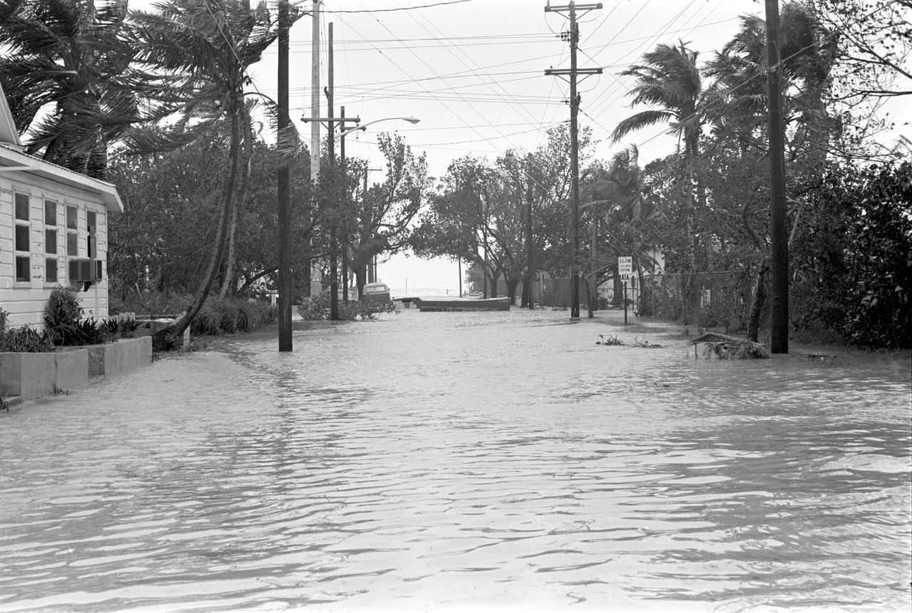 Flooding In Key West Following Hurricane Betsy 1965 Credit Florida Key Public Libraries Mcdonald Dale M Florida Hurricane