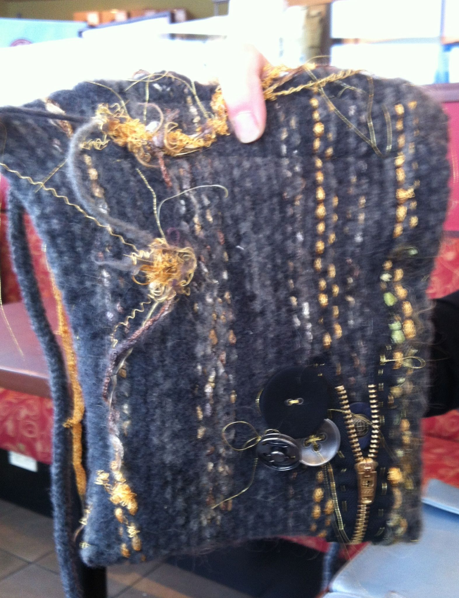 Cool knitted handmade bags by SHIRLEY FRASER