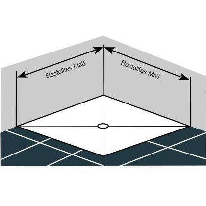 Montage auf dem Boden Fünfeck Dusche in 2019 Duschkabine