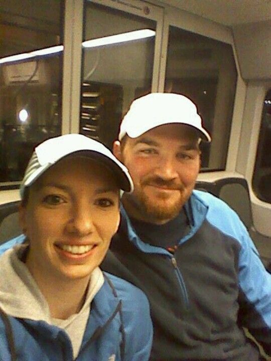1/20/13 on the Phoenix Lightrail heading for the race.