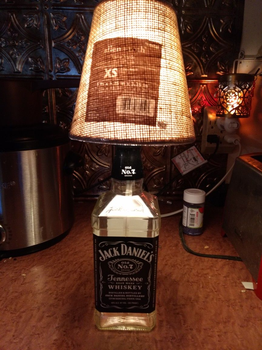 jack daniel's bottle lamp | bottle | pinterest